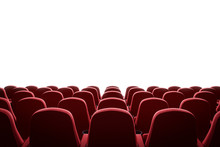 Movie Theater With Red Seats A...