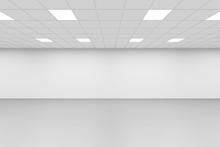 Empty Symmetrical Interior Background, 3d Render