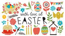 Easter Icons, Design Elements Set