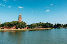 Ancient Temple In Ayutthaya Thailand