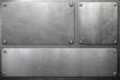 Leinwandbild Motiv Metal plates on steel background