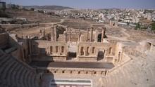 In Jerash Jordan The Antique Archeological Site Classical Unesco Heritage For Tourist