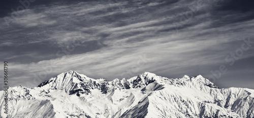 Fototapeta Winter mountains at sun winter day obraz