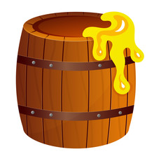 Color Image Of Cartoon Barrel ...