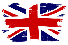 Union Jack British Flag With G...