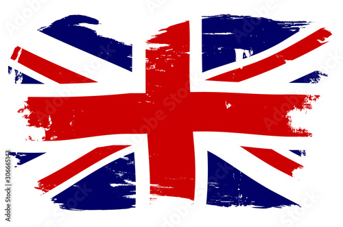 Canvas Print Union Jack British Flag With Grunge