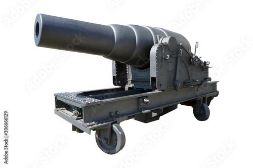 Fotografia old cannon isolated on white background