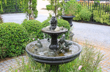 Beautiful Fountain In The Park...