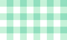 Vector Teal And White Twill Plaid Pattern Design Illustration For Printing On Paper, Wallpaper, Covers, Textiles, Fabrics, For Decoration, Decoupage, And Other.