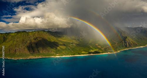 double rainbow coastline