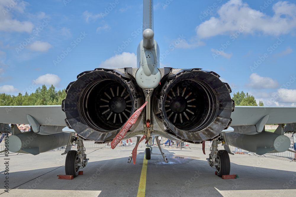 Fototapeta Delivery of military aircraft