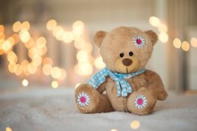 Teddy Bear Toy Isolated With B...