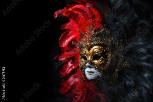 Foto op Aluminium Carnaval Italian carnival venetian mask. Mysterious event, party