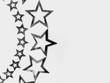 stars isolated on white background