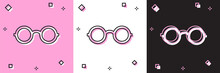Set Glasses Icon Isolated On P...
