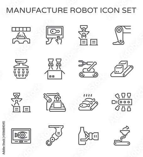 robot production icon Canvas Print