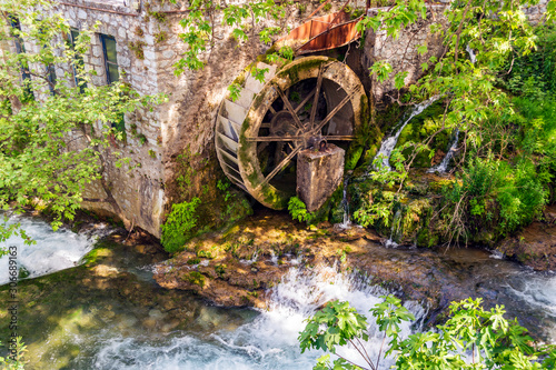 Canvastavla Old water mill in Livadeia, Greece