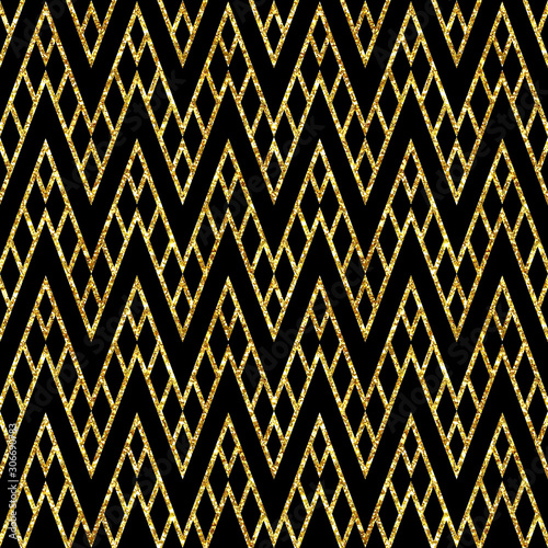 Photo  Abstract geometrical contemporary  glitter sparkling seamless pattern
