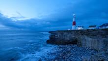 Portland Bill Light House On The Jurassic Coast In Dorset, UK