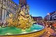 Fontana dei Quattro Fiumi (Fountain of the Four Rivers), Piazza Navona, Rome, Italy.