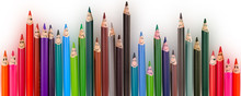 Color Pencils Isolated On Whit...