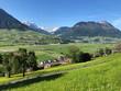 View of the Engelbergertal Valley, Settlement Stans and Mountain Stanserhorn, Ennetbürgen - Canton of Nidwalden, Switzerland