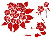薔薇シルエット