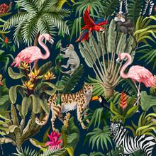 Seamless Pattern With Jungle A...