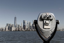 Binoculars With Lower Manhatta...