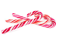 Candy Canes Isolated On White ...