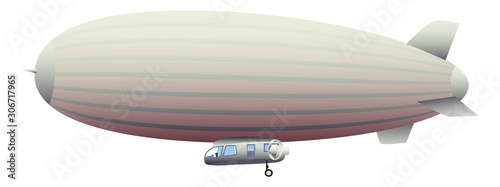 Photo Legendary huge zeppelin airship filled with hydrogen