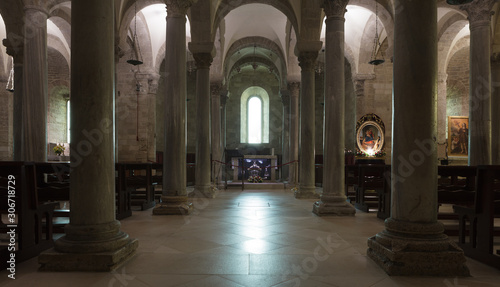 Lower church of Trani Cathedral Canvas Print