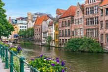 Ghent Picturesque Canal In Bel...