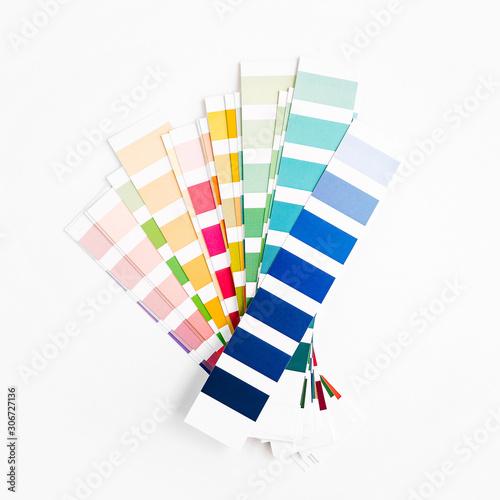 Color swatch. Color palette guide. Rainbow  scale. Fototapeta