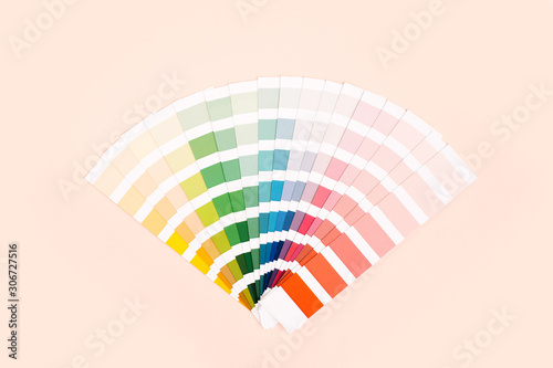 Obraz na płótnie Color palette with various samples