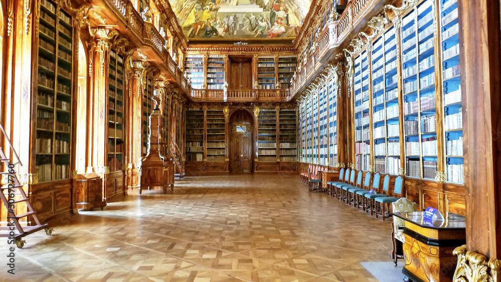 Fototapeta PRAGUE - Strahov Convent Library, CZECH REPUBLIC