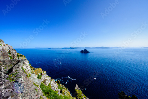 View of little skellig and Kerry peninsula Tablou Canvas