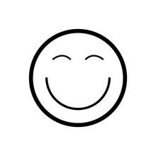 Smile Emoji Icon Flat Simple Vector Illustration Isolated Eps10 On White Background