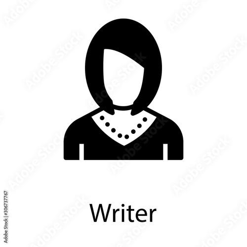 Valokuva Female Writer Avatar