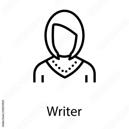Valokuvatapetti Female Writer Avatar