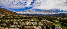 Aerial Panorama Of Snow Covere...