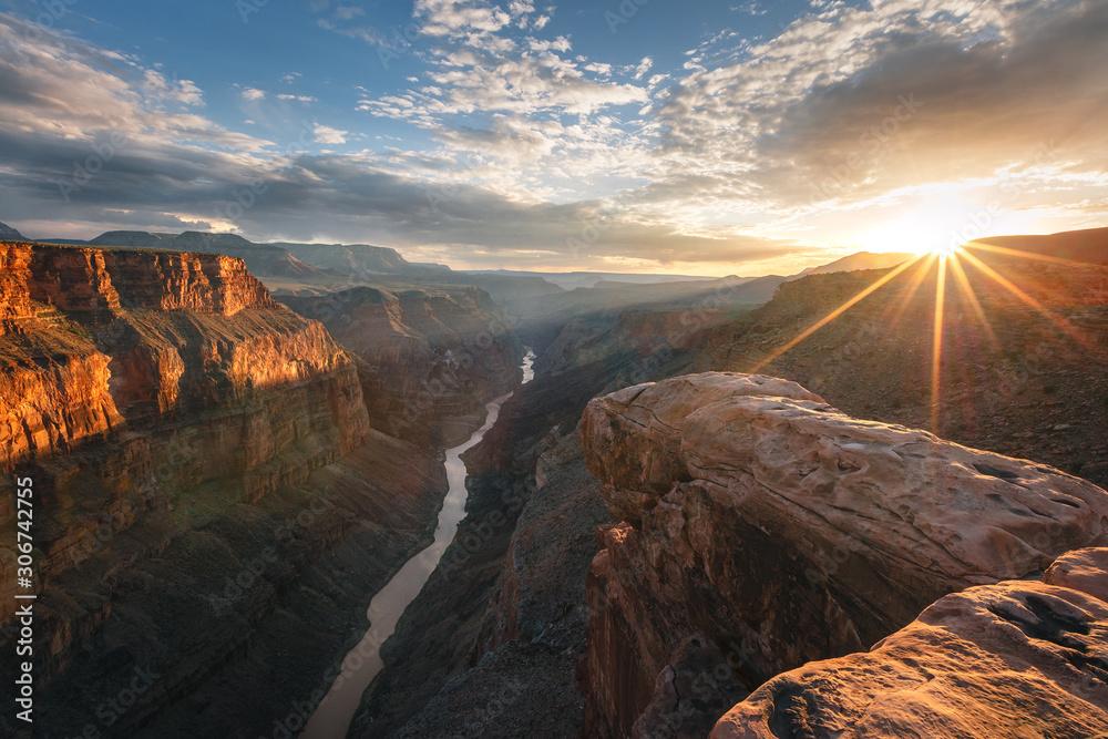 Fototapeta Golden sunset at the Grand Canyon, Arizona, USA.