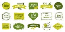 Eco Logo. Organic Healthy Food...