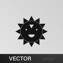 Cheerful Sun Icon. Element Of ...