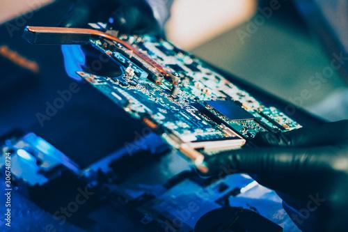 Valokuvatapetti Computer manufacturing