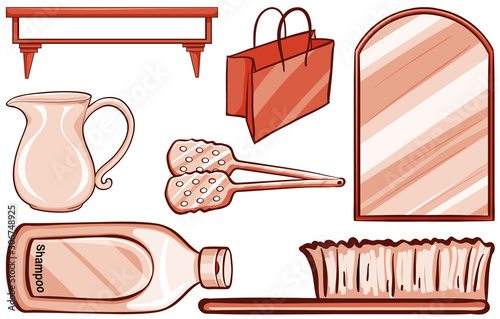 Household items in red