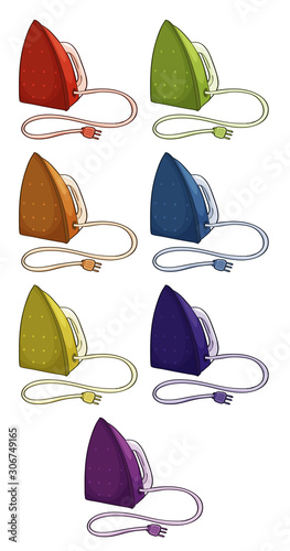 Irons in different colors