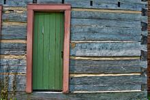 Door In Log Cabin