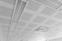 Acoustic Ceiling With Lighting...