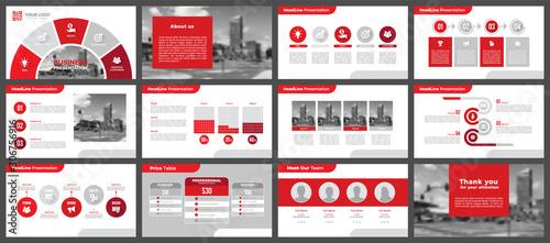 Obraz na plátně Presentation templates, corporate